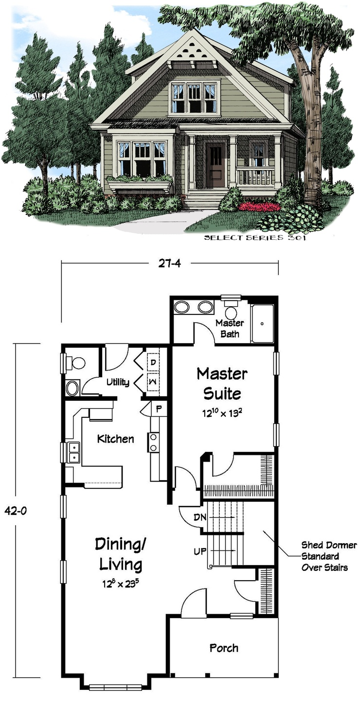 Add two bedrooms and an office on the left side of the for Small office building floor plans