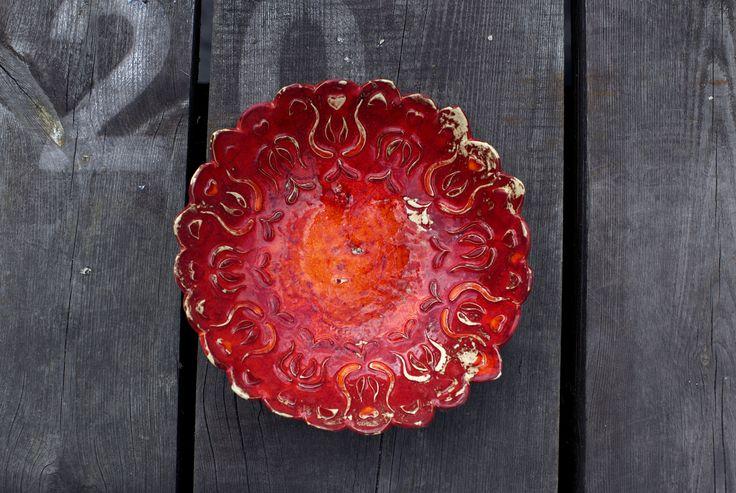 ceramic, handmade bowl, glazed. ceramiczna, ręcznie wykonana misa.