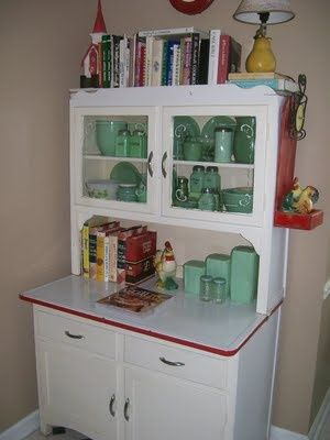 1940's cupboard with great paint colors for the kitchen