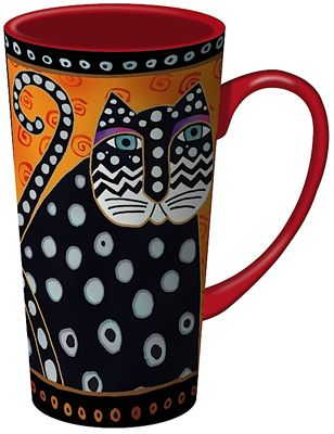 SAMPLE- Laurel Burch tall (16oz) mug--must go to ebay I also like Henriksen Imports Naylor Designs - that is the style I have now, but they are even harder to find
