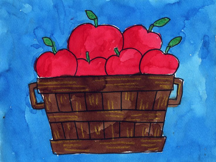 Art Projects for Kids: Layered Apple Basket