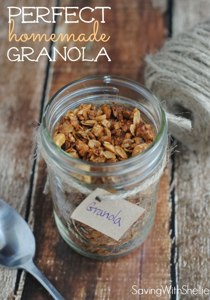 This Perfect Homemade Granola is so easy and inexpensive to make! No longer will you have to justify $3 - $6 a box for granola at the store.