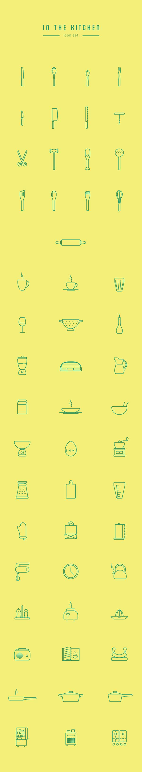 Free Download : In The Kitchen Icon Set