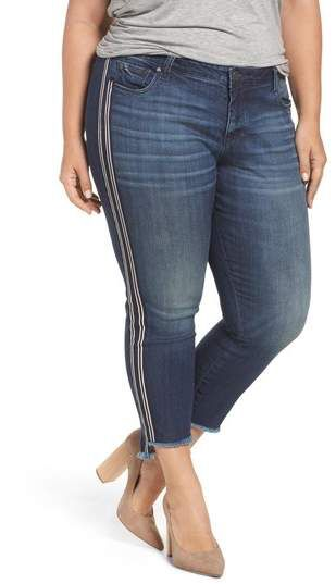990da25acce KUT from the Kloth Reese Side Stripe Uneven Ankle Jeans ...
