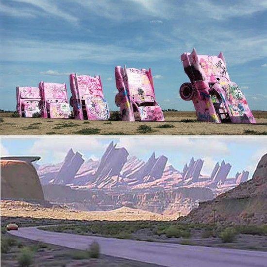 Cadillac Ranch En Amarillo Texas Disney Cadillac Range En Cars