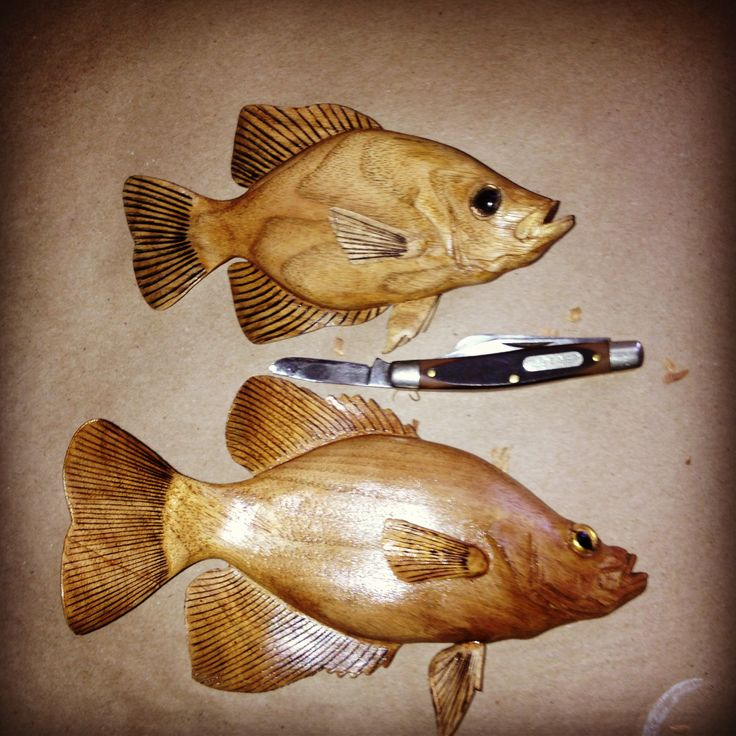 Best carved fish images on pinterest wood