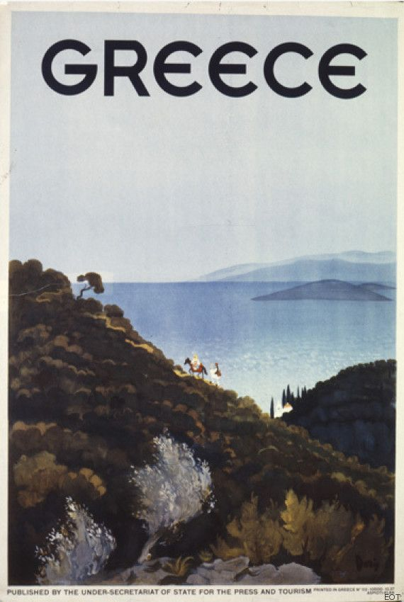 Vintage travel poster of Greece #kitsakis