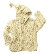 100% #organic cotton kid's sweater with hood. Hand-knit by native Quechua and Aymara women who are members of independent knitting cooperatives. They knit at home maintaining their traditional lifestyles while generating important income.