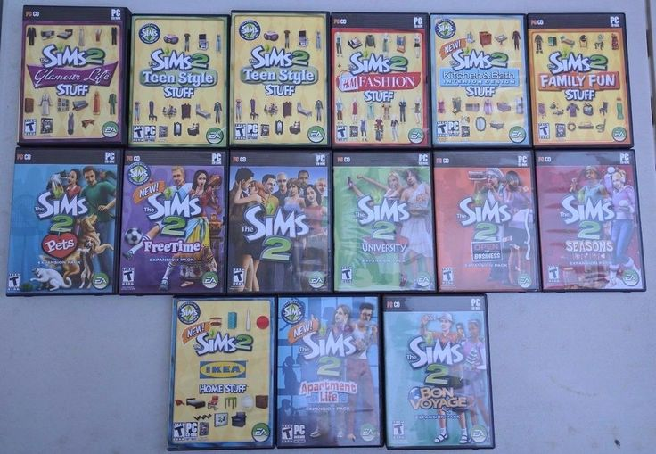 LOT OF 15 SIMS 2 (PC CD ROM) GAME COLLECTION EXPANSION PACKS STUFF ORIGINAL #EA