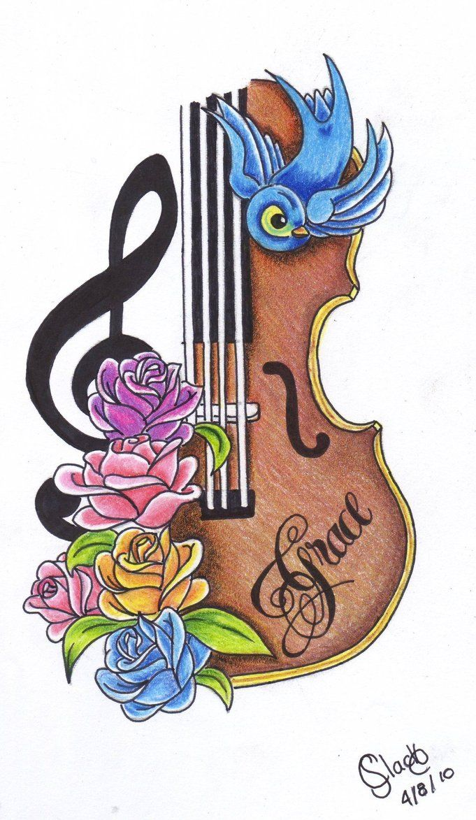 25 best ideas about violin tattoo on pinterest cello for Violin decorating ideas
