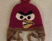 bonnet ANGY BIRD - crochet à la main : Mode filles par unepelotedelaine