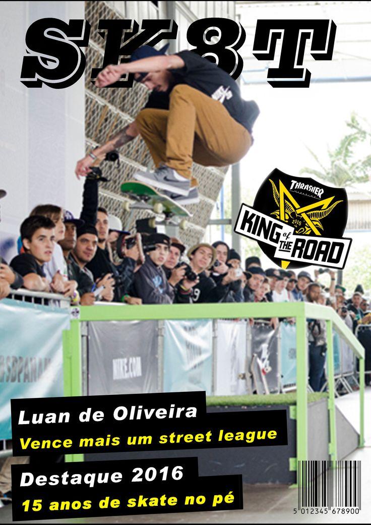 Capa de Revista esportiva, feita em sala. Utilização programa Photoshop com a montagem de letras e máscaras.