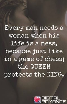 I wish I fully had your love that came with the support a Queen should want to provide for her king. -woman** her**
