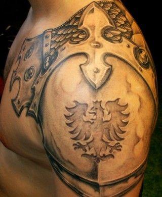 shoulder armor tattoo | real armour .. brnění