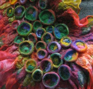 from Felt art in Siberia: gorgeous Shibori felted scarf