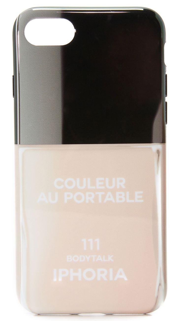 Lulu Guinness Iphone, Iphone 6 Et 7 Cas, Le Noir, Le Caoutchouc, 2017, Une Taille,