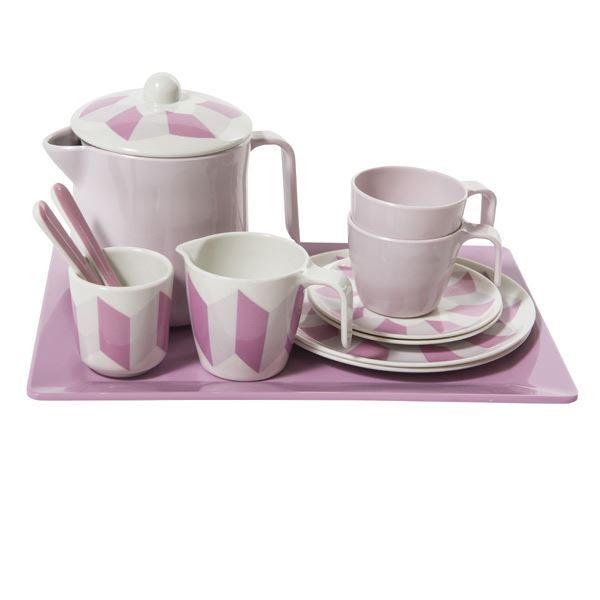 Sebra te stel i melamin - Sødt tesæt til leg og hygge - Tinga Tango Designbutik