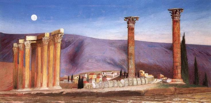 Csontváry Kosztka Tivadar A Jupiter-templom romjai Athénban