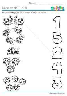 Aprender los números del 1 al 5 http://edufichas.com/actividades/matematicas/numeros/numeros-del-1-al-5-ficha/