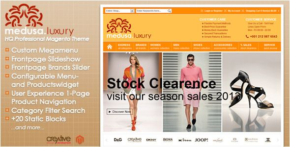Exdress is a HQ Professional Eye-Catching Magento Theme. It is designed to delight and relax your customer's eyes, and make him curious to continuing shopping in your Store. Go increasing your Conversion Rate with Exdress, your User Experience Magento Theme.