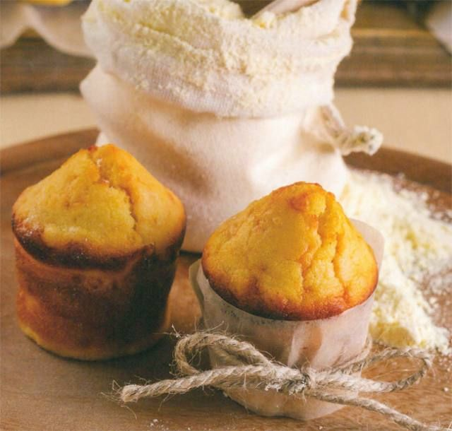'n Geurige goudkleurige muffin geskik vir ontbyt óf bykos saam met braaivleis!