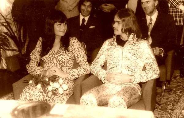 Ada Rusowicz i Wojciech Korda - ślub (1971) świadkowie: Janusz Popławski i Franciszek Walicki.