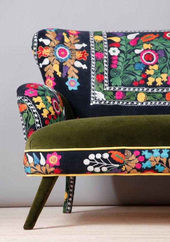 Suzani 3 seater sofa Spring by namedesignstudio on Etsy