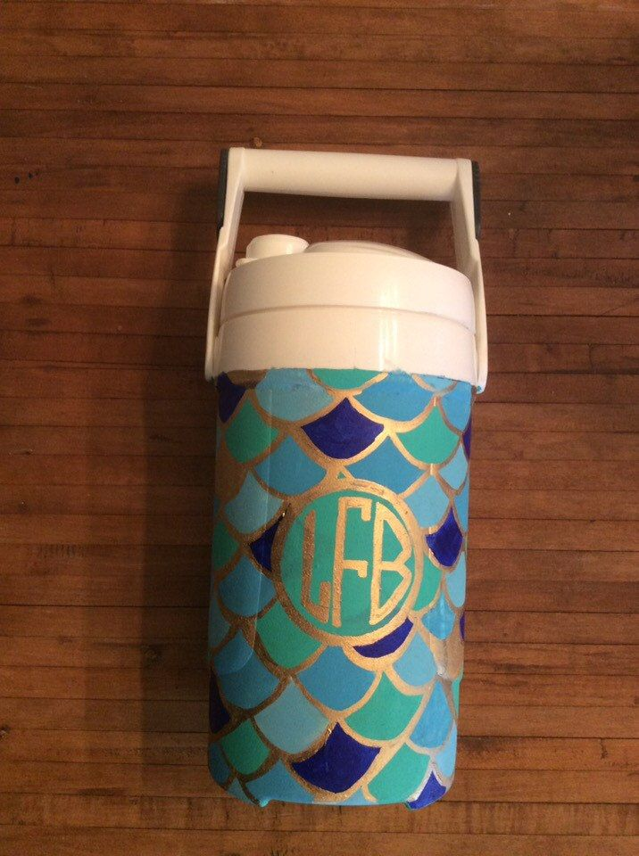 Hand Painted Chug Jug by PreppyandPainted on Etsy