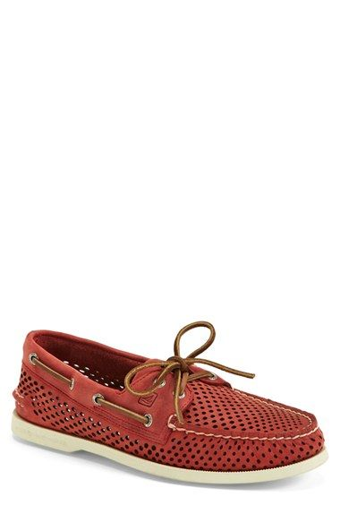 Sperry+'Authentic+Original'+Perforated+Leather+Boat+Shoe+(Men)+available+at+#Nordstrom
