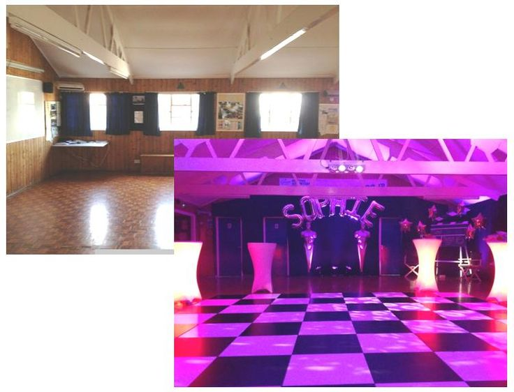 Have you booked a community hall for your Simcha? One of our favourite things to do is transform a blank canvas venue into a stunning themed space. We loved turning this hall into a fun nightclub theme with LED cubed furniture, a monochrome dance floor and a classic silver balloon arch.