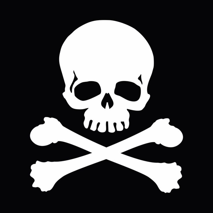 Jolly roger skull crossbones car body window bumper vinyl decal sticker