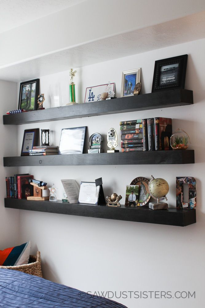 Diy Floating Shelves Free Plans Floating Shelves Floating Shelves Living Room How To Make Floating Shelves