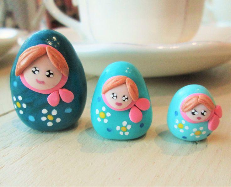 Fimo Polymer Clay Matriochka Russian Doll Poupee Russe