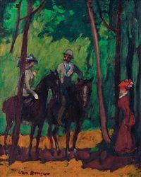 Cavaliers au Bois de Boulogne, 1906