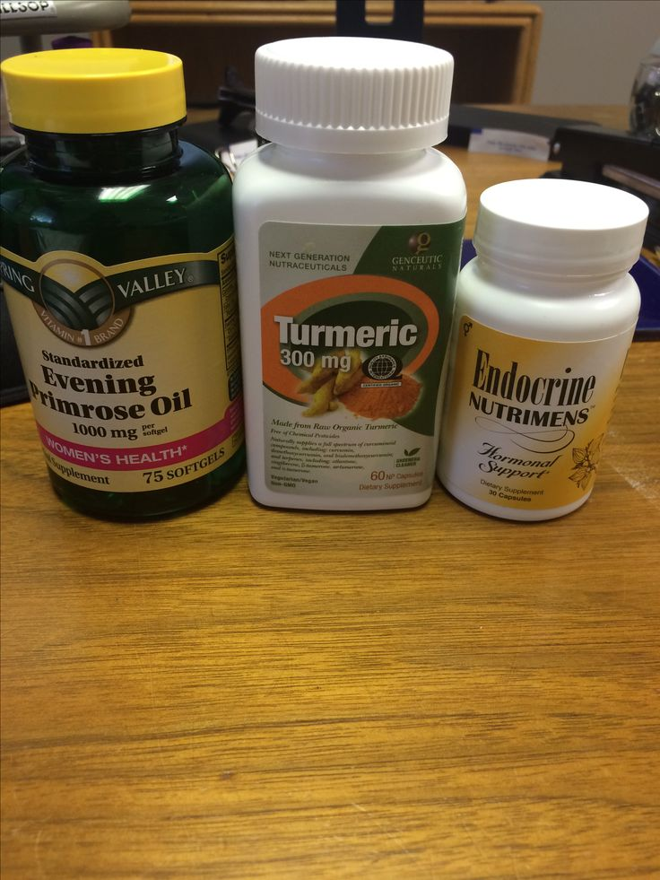 Great for hormonal imbalance and just overall women's health. Evening Primerose Oil, Turmeric and Endocrine Nutrients.