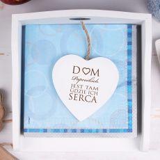 Personalizowany serwetnik DOM GDZIE SERCA ICH idealny na urodziny