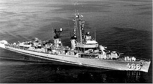 USS Waller (DD/DDE-466) Fletcher-class destroyer named for Major General Littleton Waller,USMC (1856-1926).