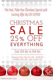 27 best Christmas Retail Poster Templates images on ...