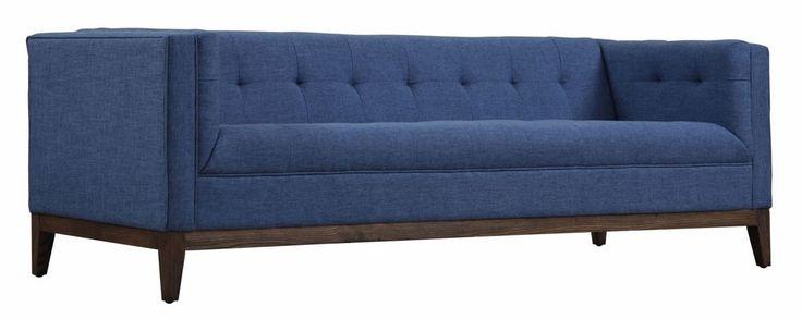 TOV Furniture - Gavin Blue Linen Sofa - TOV-S33