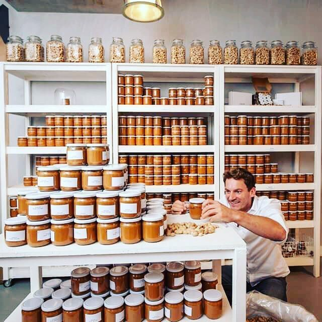 The world's only dedicated Peanut Butter Shop (De Pindakaaswinkel) is open in Amsterdam since june 2016. The team pride themselves on using natural ingredients. There is no palm oil, sugar or artificial flavours and all the pots are mixed and filled by hand. There's an array of flavours for the peanut butter connoisseur to try, including raisin, cinnamon, white chocolate, coconut and sea salt caramel. Michiel Vos is the creator and owner of the shop. http://www.depindakaaswinkel.nl