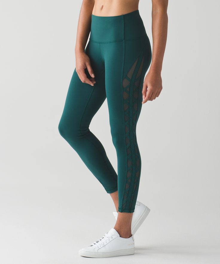 These high-rise, 7/8-length pants were designed to take you from Hatha to happy…