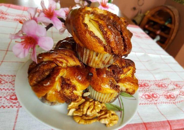 Diós-nutellás briós muffin
