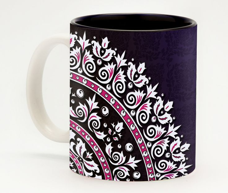 Royal Motif Coffee Mug - Looking for a unique gift for a co-worker? Just fill a mug with some chocolates and stationery items and place it on your co-worker's desk. An instant hit!