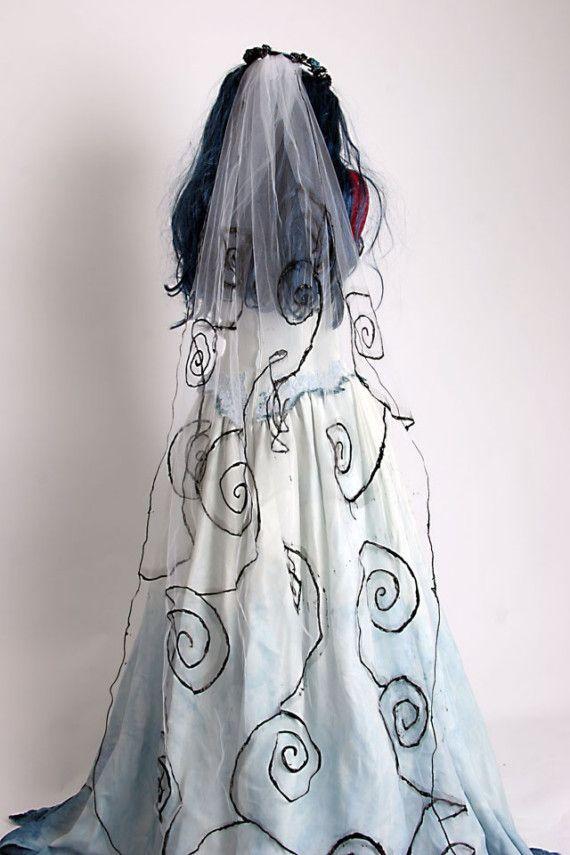 Corpse Bride Costume  Based on Tim Burton movie by Deconstructress, $499.00