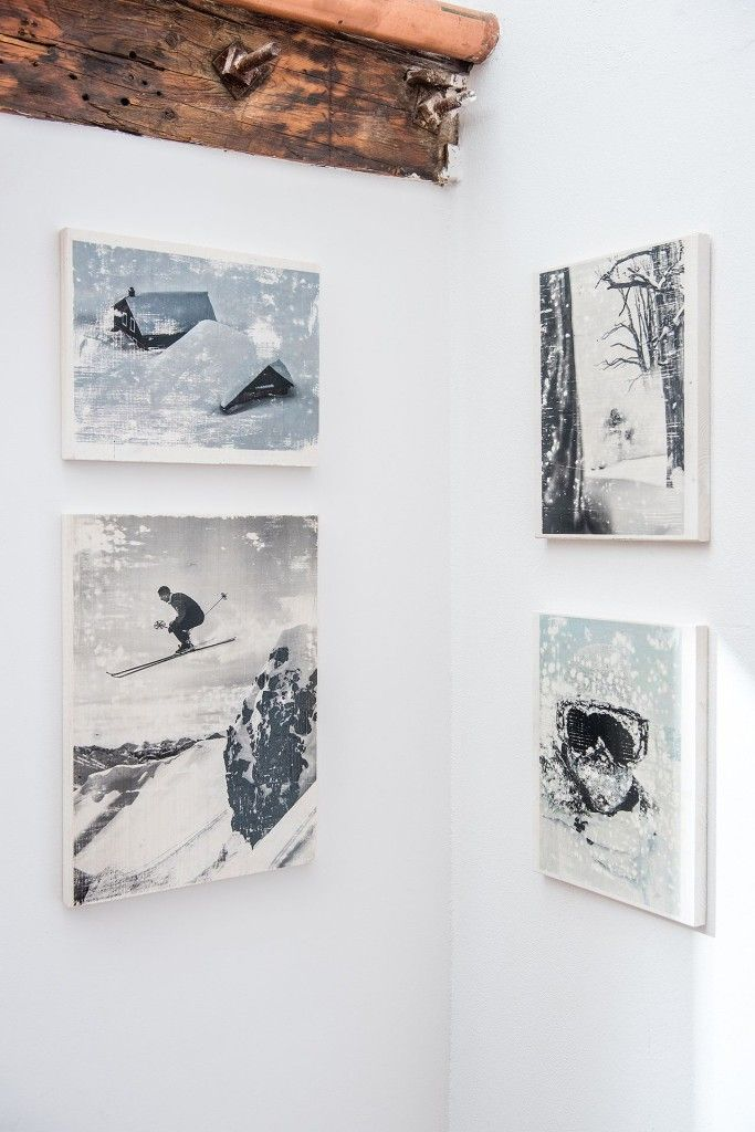 Presslabs-Office-Winter-Wall-Picture-Frames. Handcrafted image transfer onto wood.