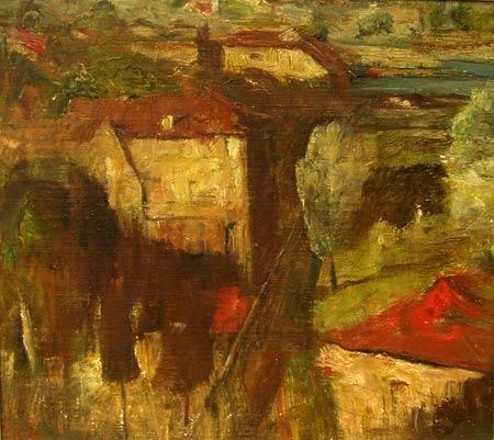 Hunters Hill landscape 1956. Lloyd Rees
