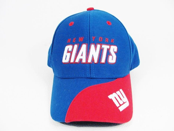 NEW YORK GIANTS One Size Fits All  Snap Back Cap Hat NFL Team Apparel New #NFL #NewYorkGiants