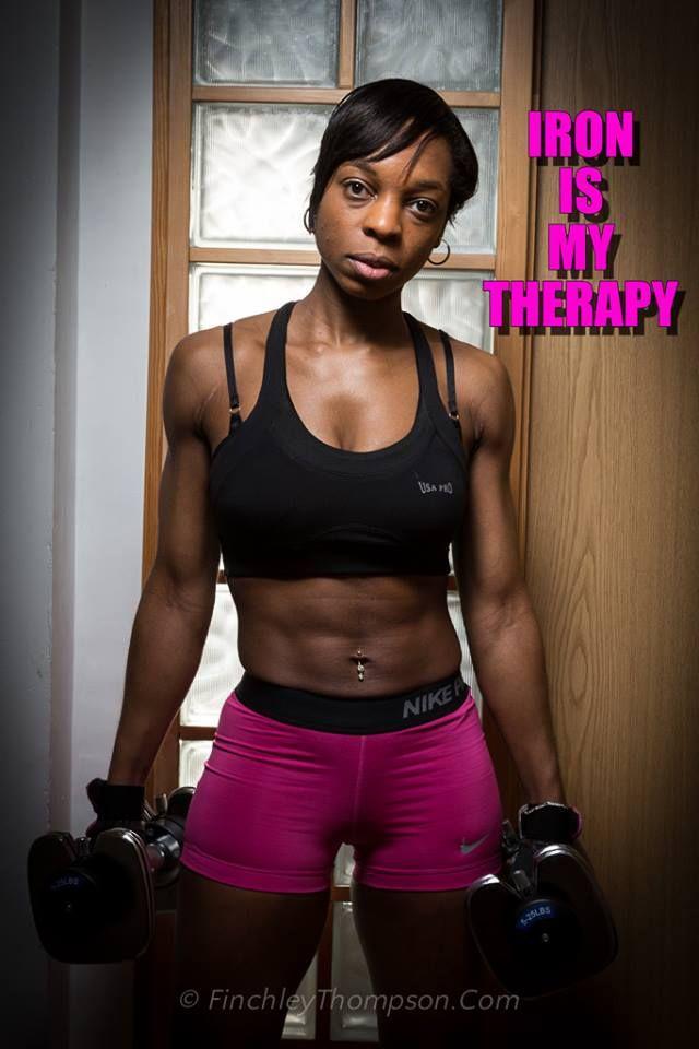 Black Fitness Women, Gemini Lawton, Iron is my Therapy