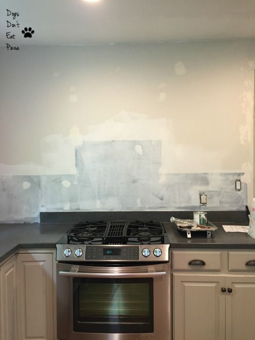 chalkboard paint and spackling sanded and primed - how to prepare walls for painting - Dogs Don't Eat Pizza