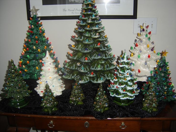 Retro Ceramic Christmas Tree | have a collection of vintage ceramic christmas trees